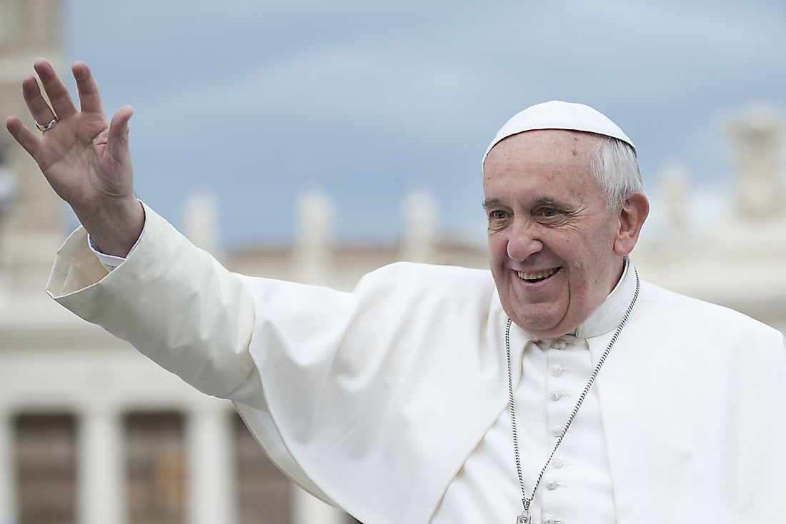 Editorial credit: neneo / Shutterstock.com. The current pope, pope Francis, was 76 years old when he was elected.
