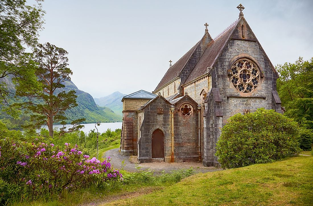 A Catholic church in Scotland.
