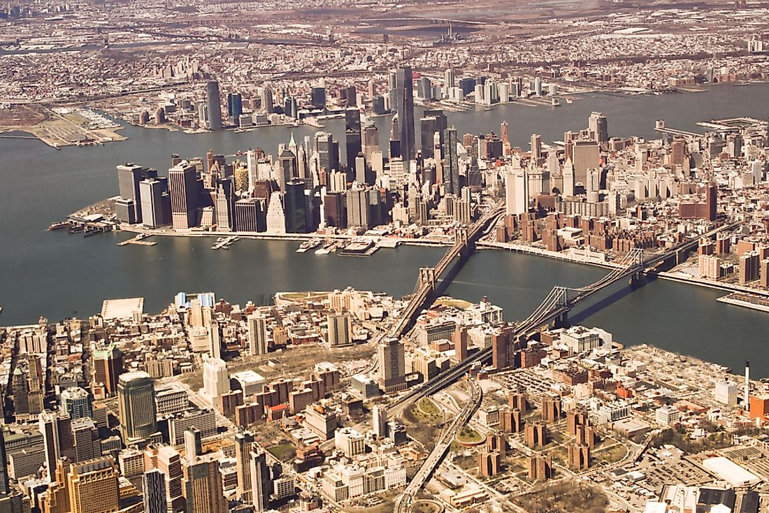 New York is one of the world's largest cities by both land area and population.