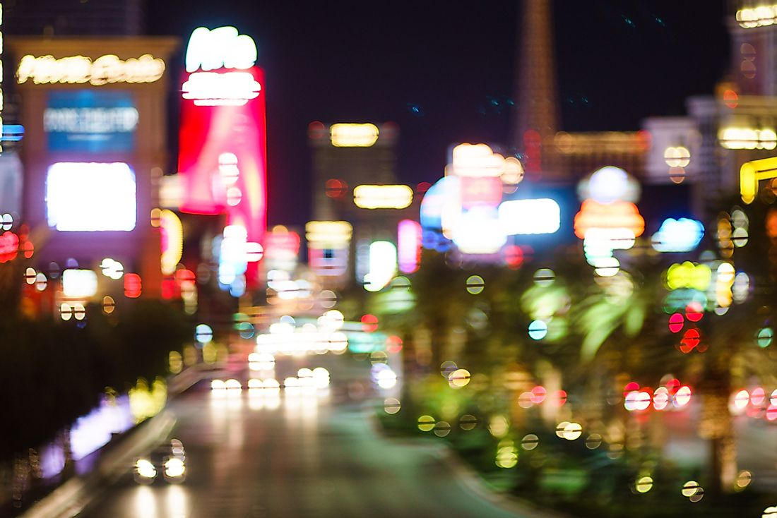 The Las Vegas strip.