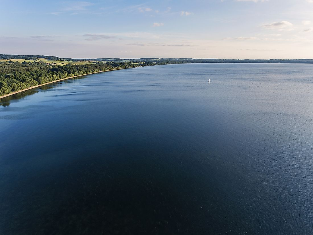 Lake Dusia, one of the largest lakes in Lithuania.
