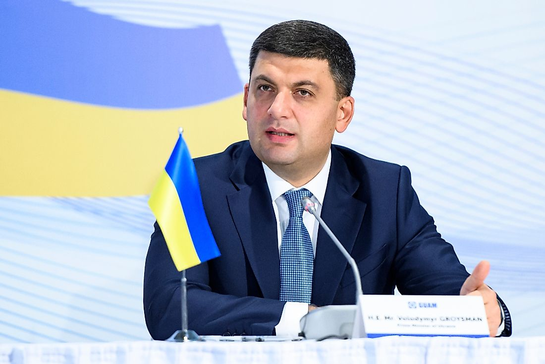 Volodymyr Groysman became the Ukrainian Prime Minister in 2016. Editorial credit: paparazzza / Shutterstock.com.