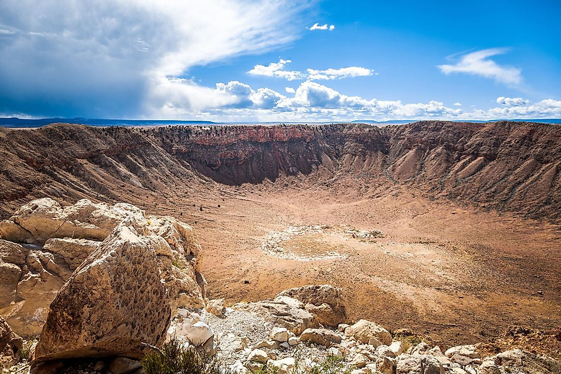 The Barringer Meteor Crater was formed about 50,000 years ago.