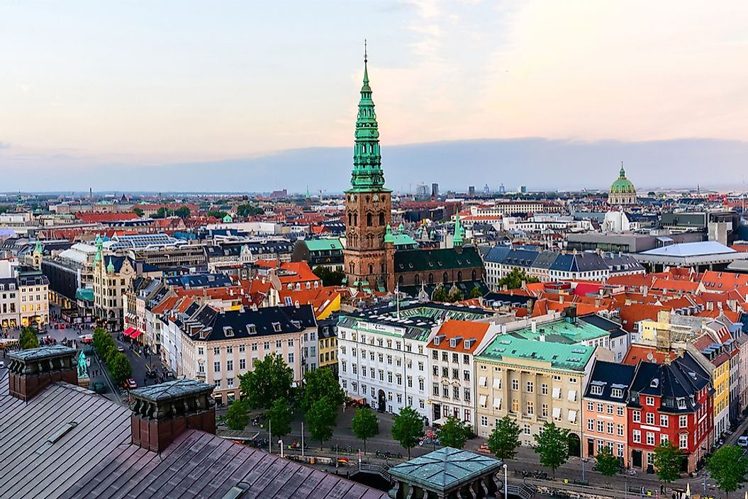Copenhagen is located on two of Denmark's most populated islands.