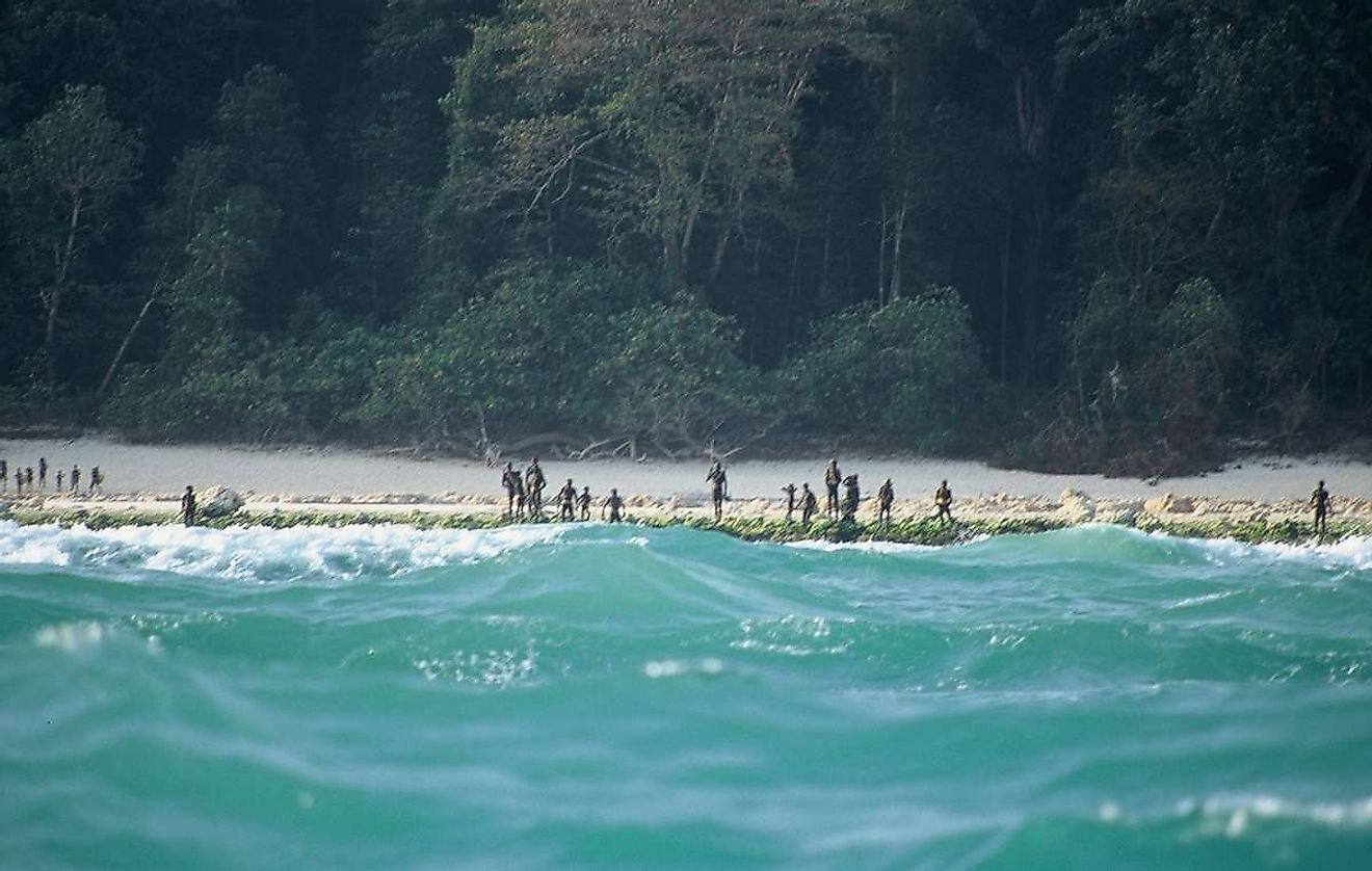The Sentinelese are a tribe living on the North Sentinel island, off the shore of India, and are considered to be the most secluded tribe in the world. Image credit: survivalinternational.org