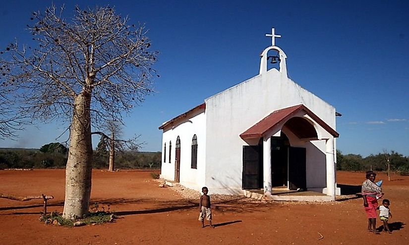 A small church in Madagascar.