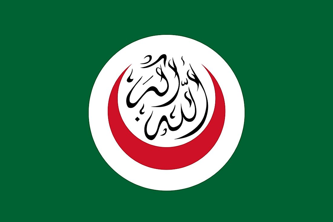 The flag of the Organisation of Islamic Cooperation.