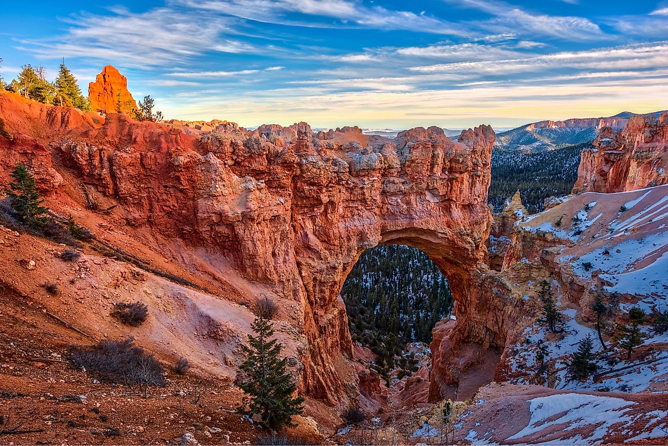Natural bridge rock formation in Bryce Canyon National Park, Utah, USA