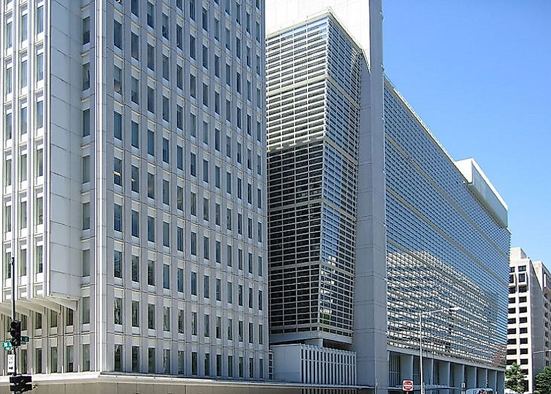 Headquarters of the World Bank, one of the most important multilateral lending institutions in the world, in Washington, D.C., United States.