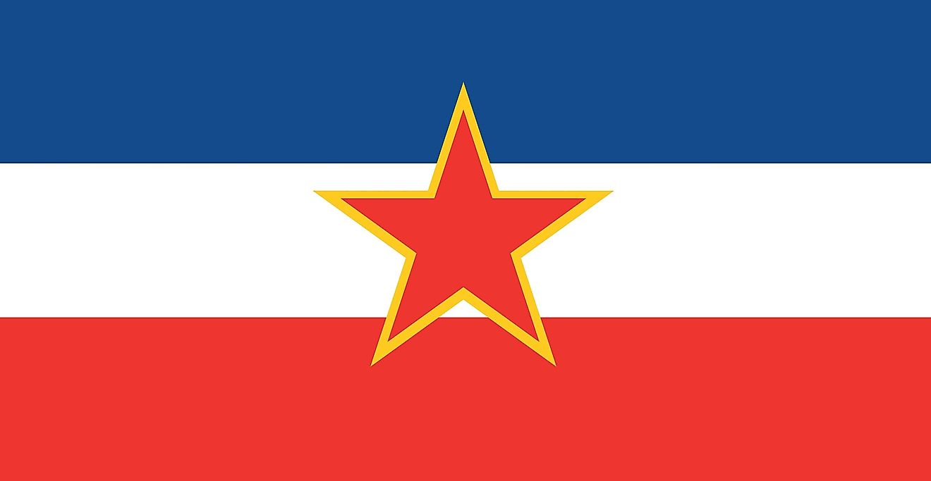 Flag of Yugoslavia.