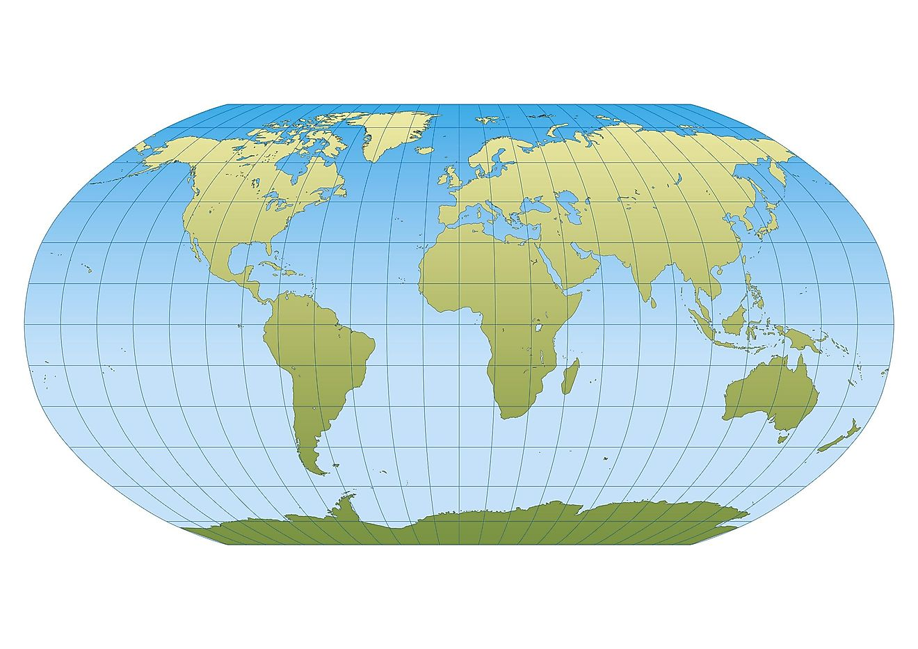 Robinson projection map.
