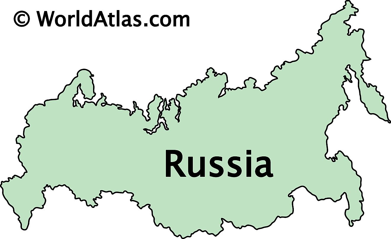 Outline Map of Russia