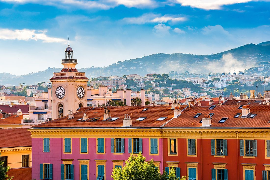 Nice, France. Nice is one of Europe's sunniest cities, even in the winter time.
