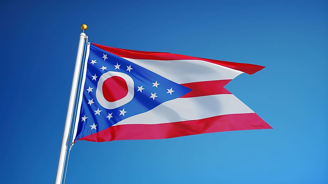 "The flag, known as the ""Ohio Burgee"" is named for its unique swallowtail shape."
