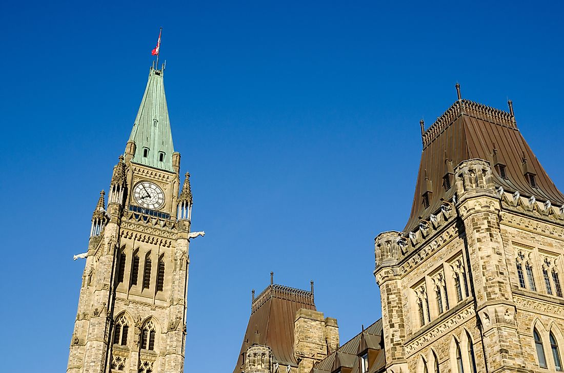 The Canadian Parliament in Ottawa.