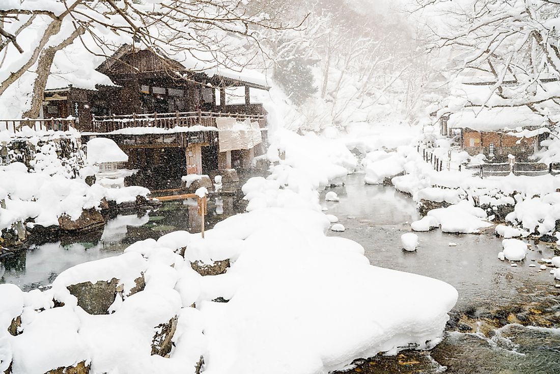 Japan's west coast gets heavy snowfall due to its proximity to the Sea of Japan.