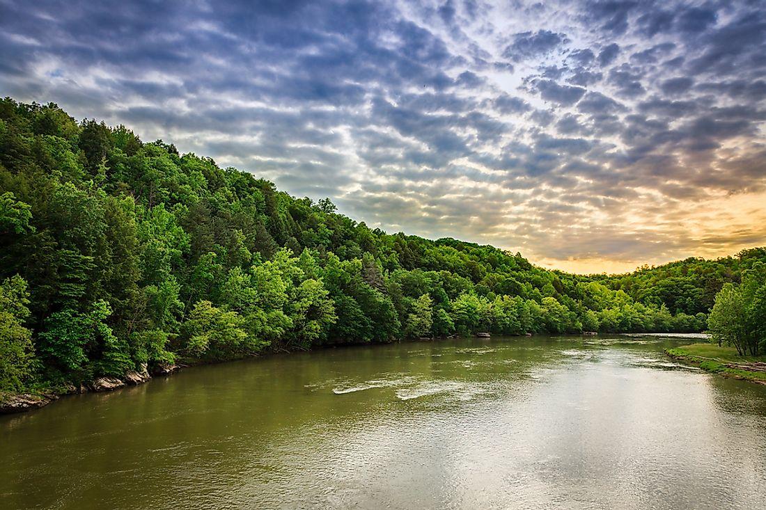 The Cumberland River in Kentucky.