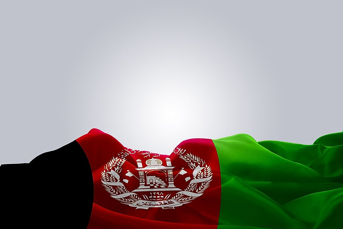 The flag of Afghanistan.