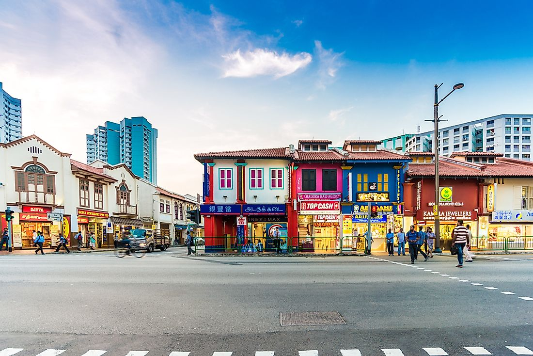 Colorful buildings in Singapore. Editorial credit: Makhh / Shutterstock.com.