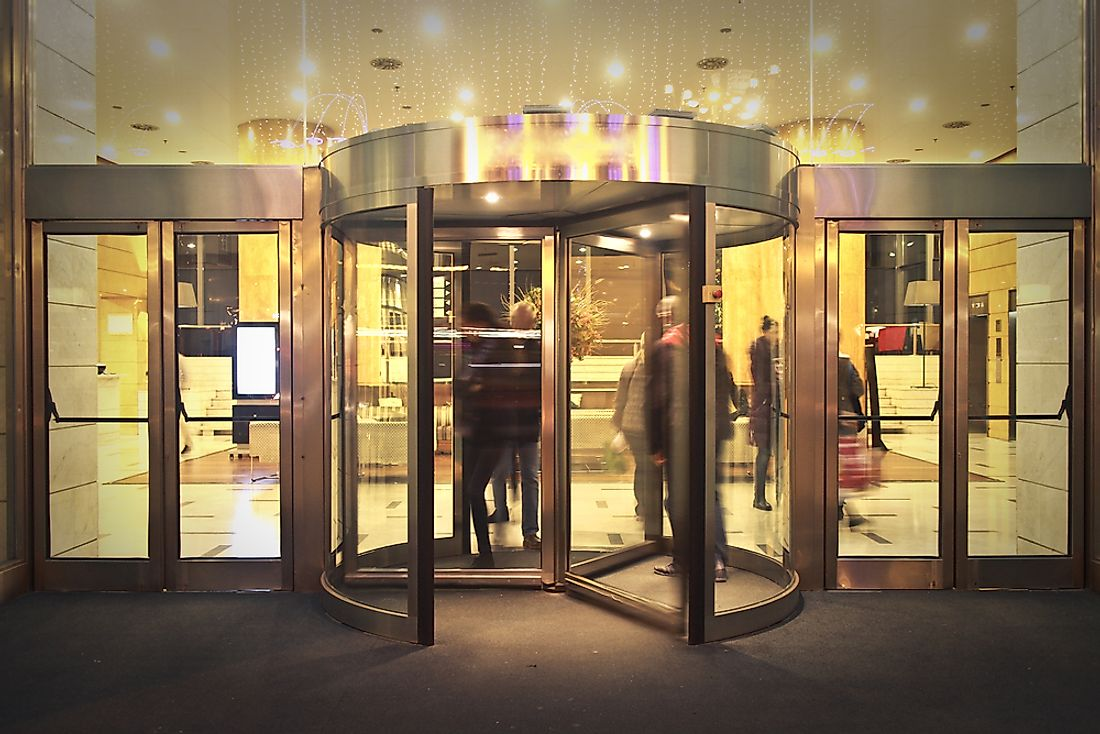 Helping your environment can be as simple as using a revolving door.