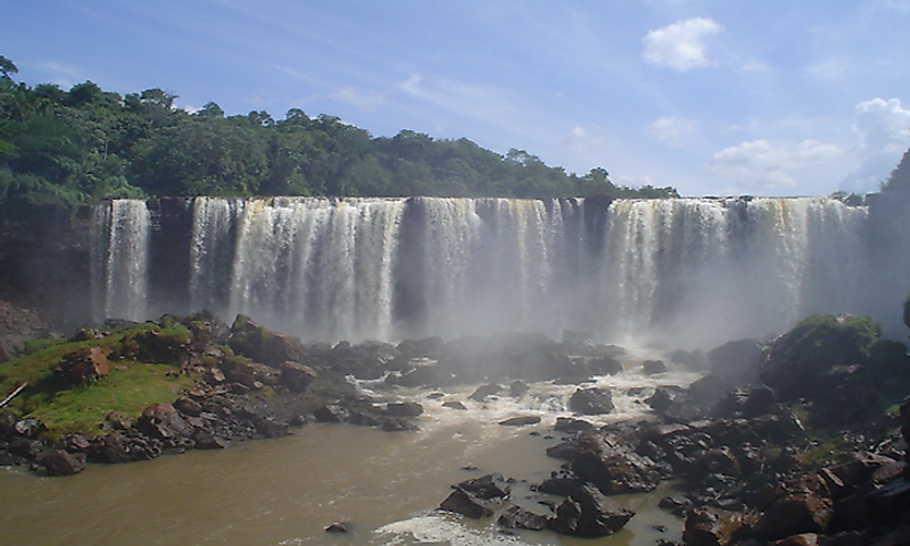 The Salto Ñacunday waterfall in the Ñacunday National Park​.