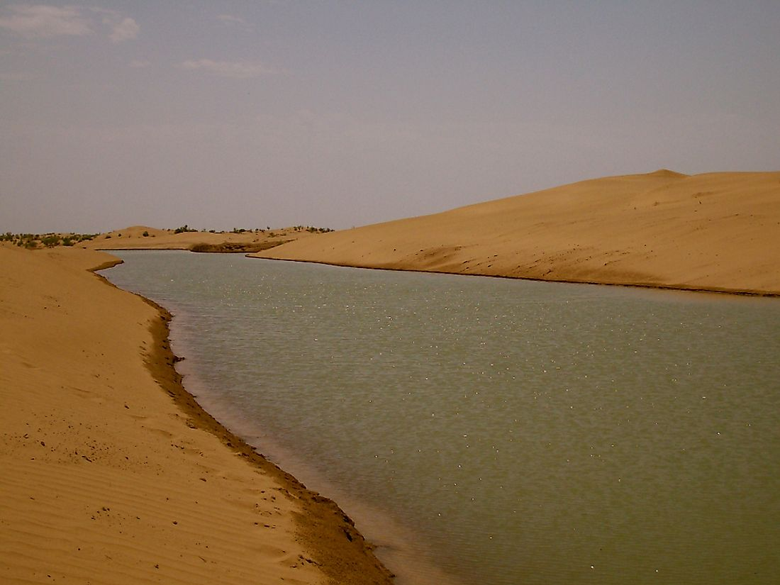 The Karakum Canal in Turkmenistan.