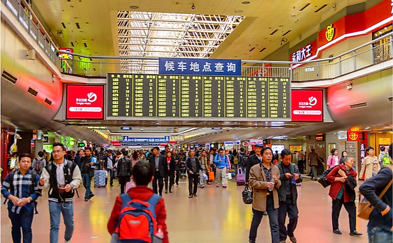 Western Railway station of Beijing, China. Editorial credit: Anton_Ivanov / Shutterstock.com