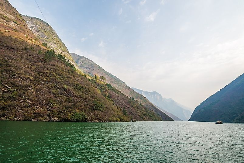 The Wu Gorge (pictured) is one of the Yangtze's famous Three Gorges.