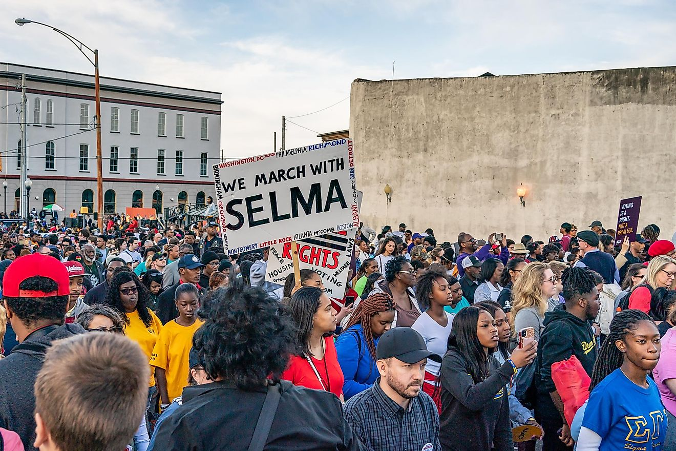 Scenes from the march to commemorate Bloody Sunday, 55 years later. Image credit: Michael Scott Milner / Shutterstock.com