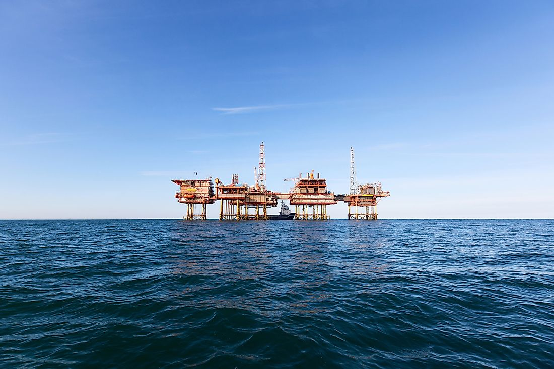An oil platform off the coast of Australia.