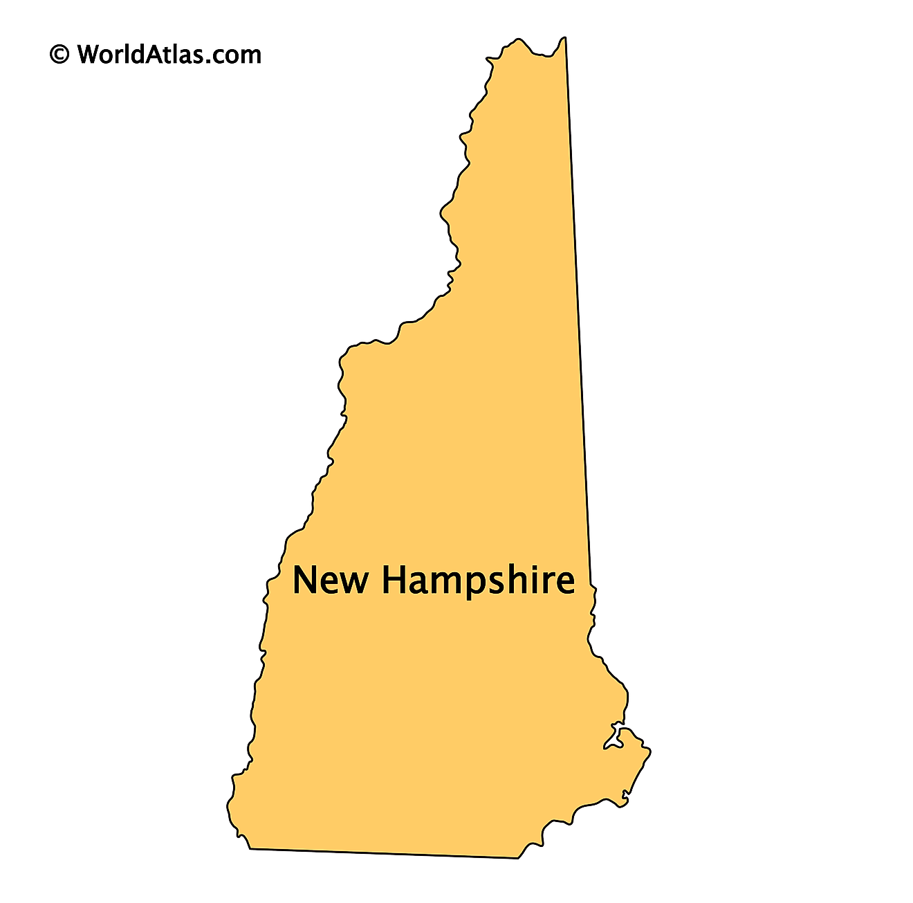 Outline Map of New Hampshire