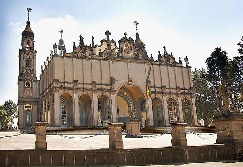 Holy Trinity Cathedral, an Ethiopian Orthodox church building in Addis Ababa.