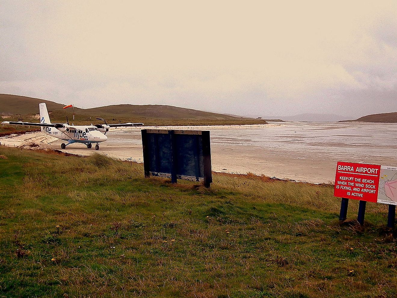 Barra Airport in Scotland has a runway on the beach.