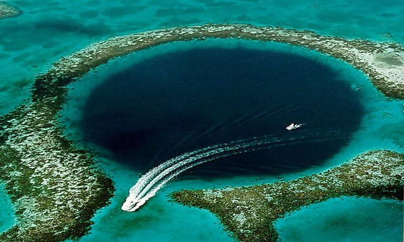 The Great Blue Hole near Ambergris Caye, Belize