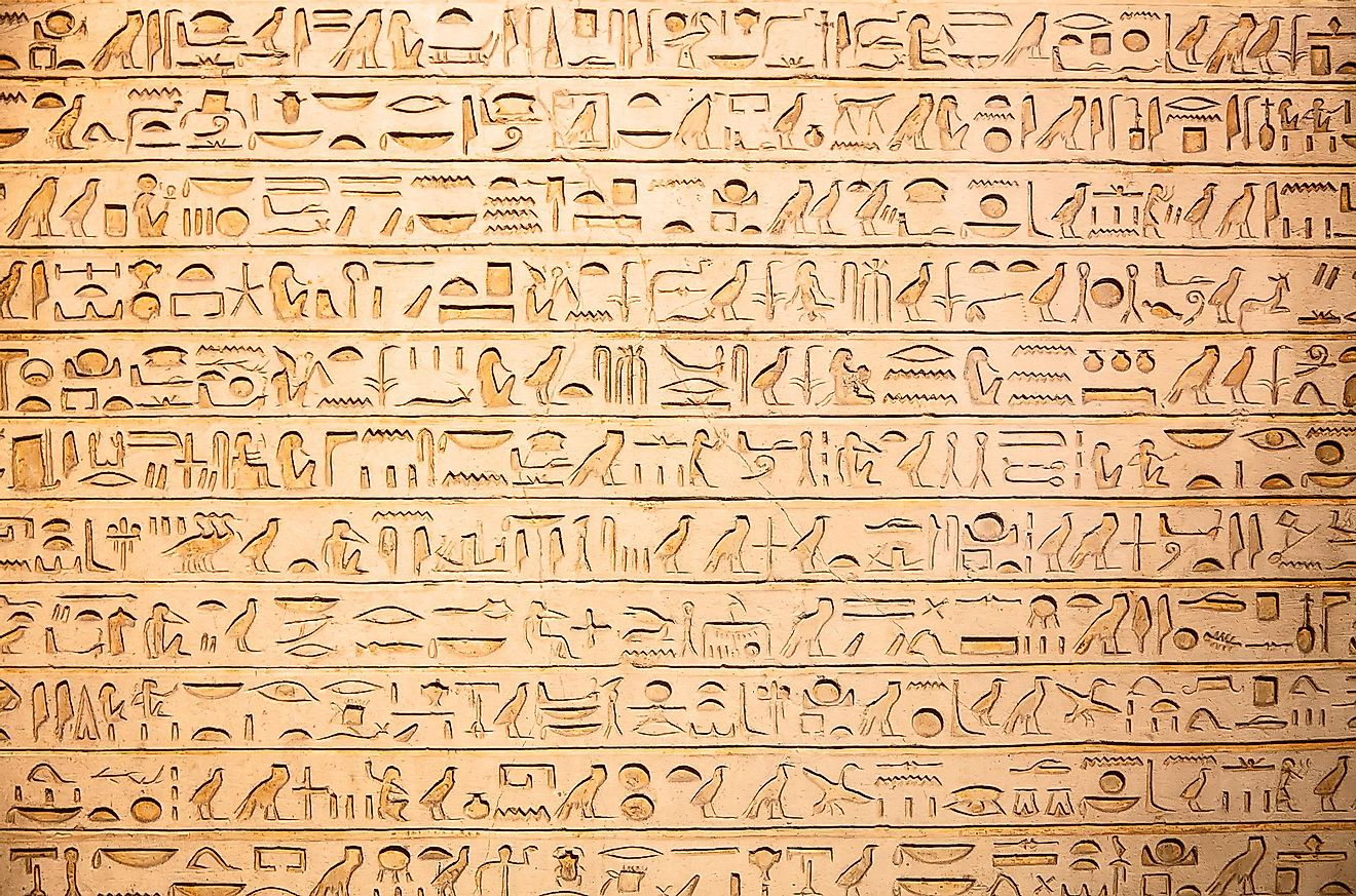 One of the earliest writing systems in human history, Egyptian heiroglyphs date back thousands of years.