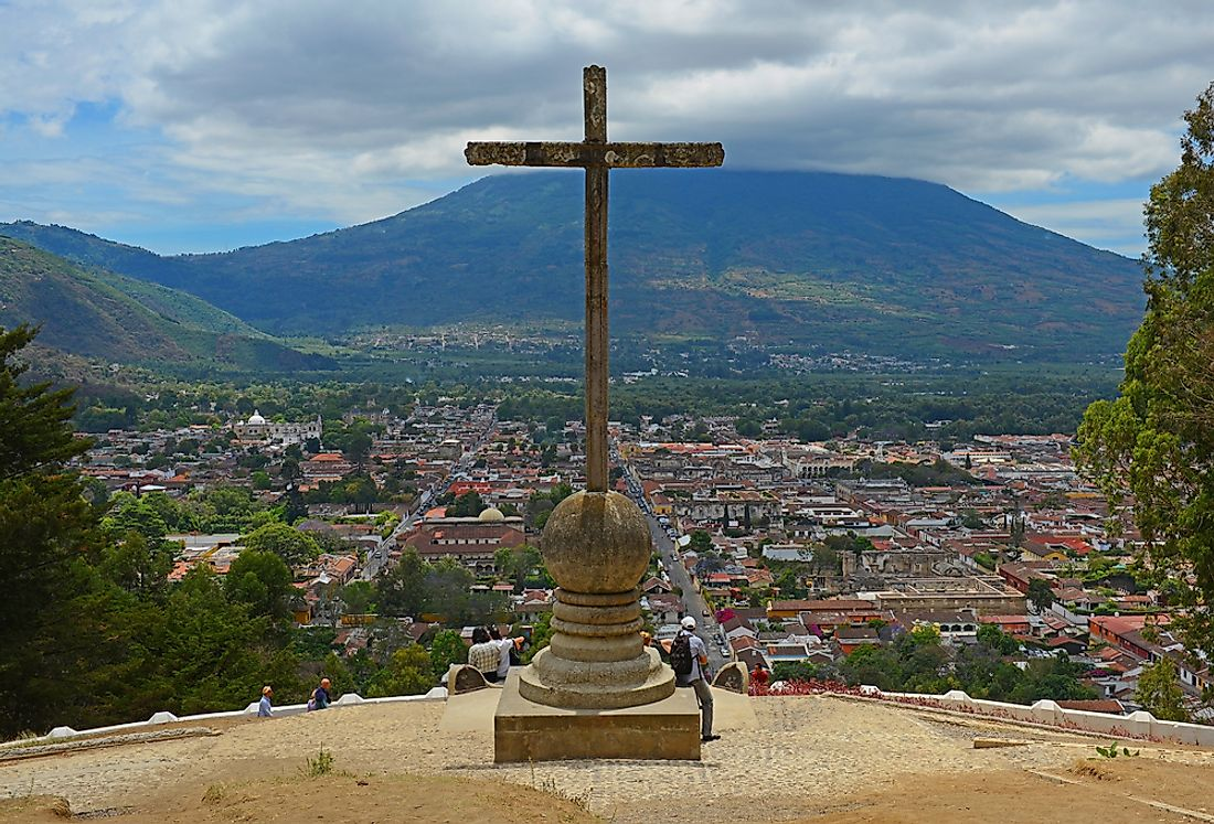 A cross is pictured here in Antigua, Guatemala.