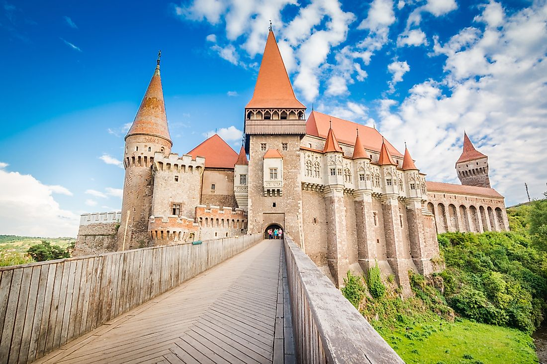 Hunedoara Castle, one of Romania's most popular tourist attractions.