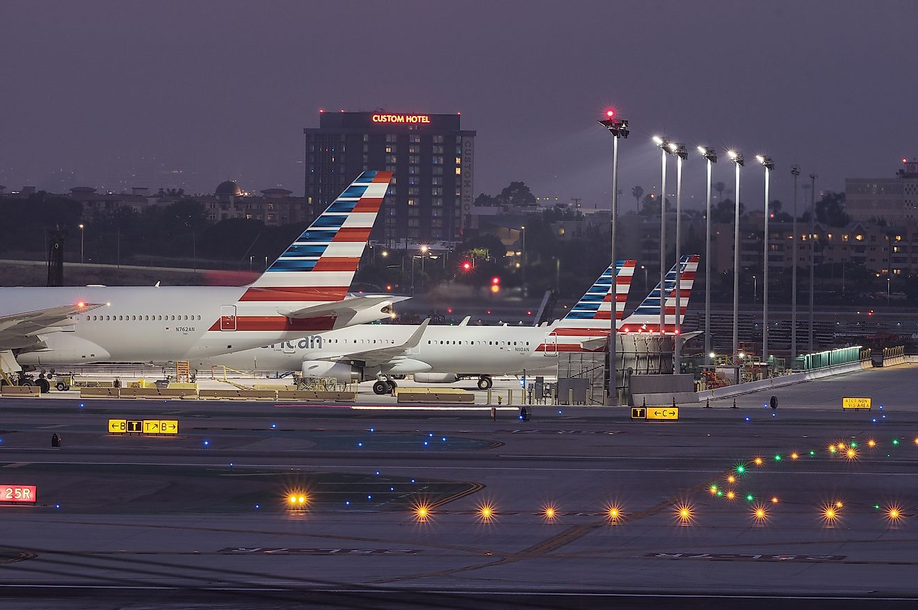 Los Angeles International Airport is America's second busiest airport.