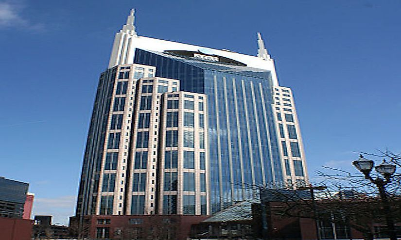 The tallest building in Nashville is the AT&T Building, which stands at 617 feet tall.