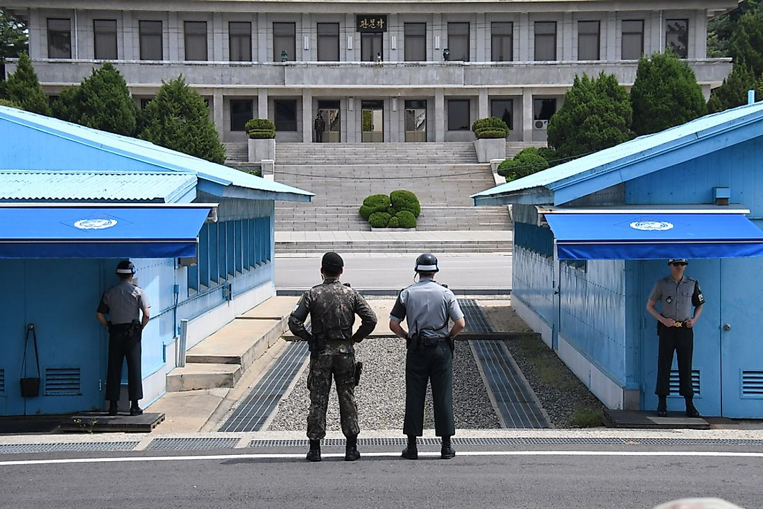 Camp Bonifas is located nearby the Korean Demilitarized Zone (pictured here). Photo credit: Meeh / Shutterstock.com.
