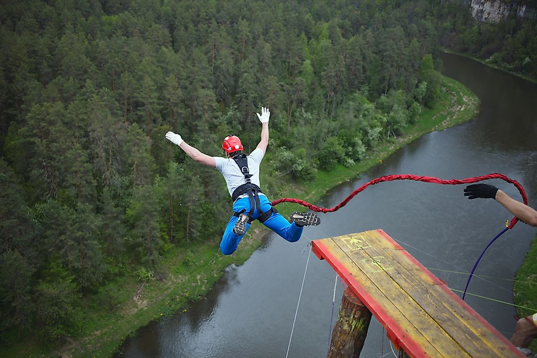 Bungee jumping is a popular activity among thrill-seekers.