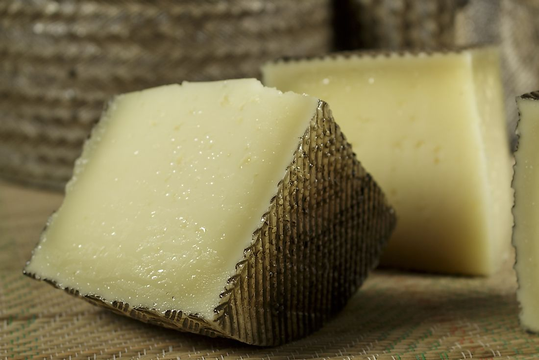 Cheese processed from sheep's milk.