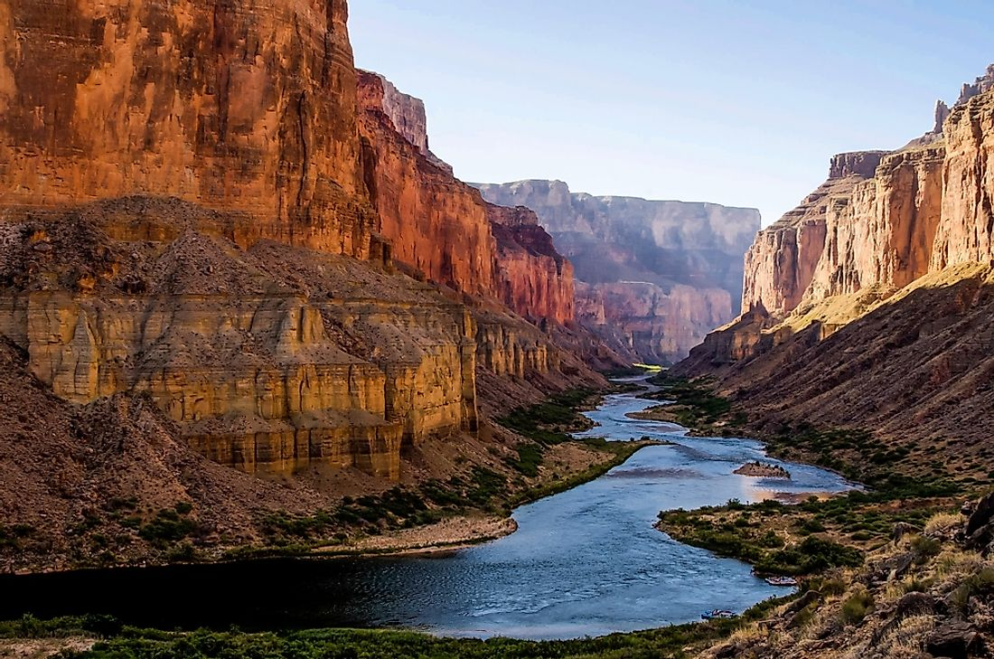 The Colorado River flowing through the Grand Canyon.