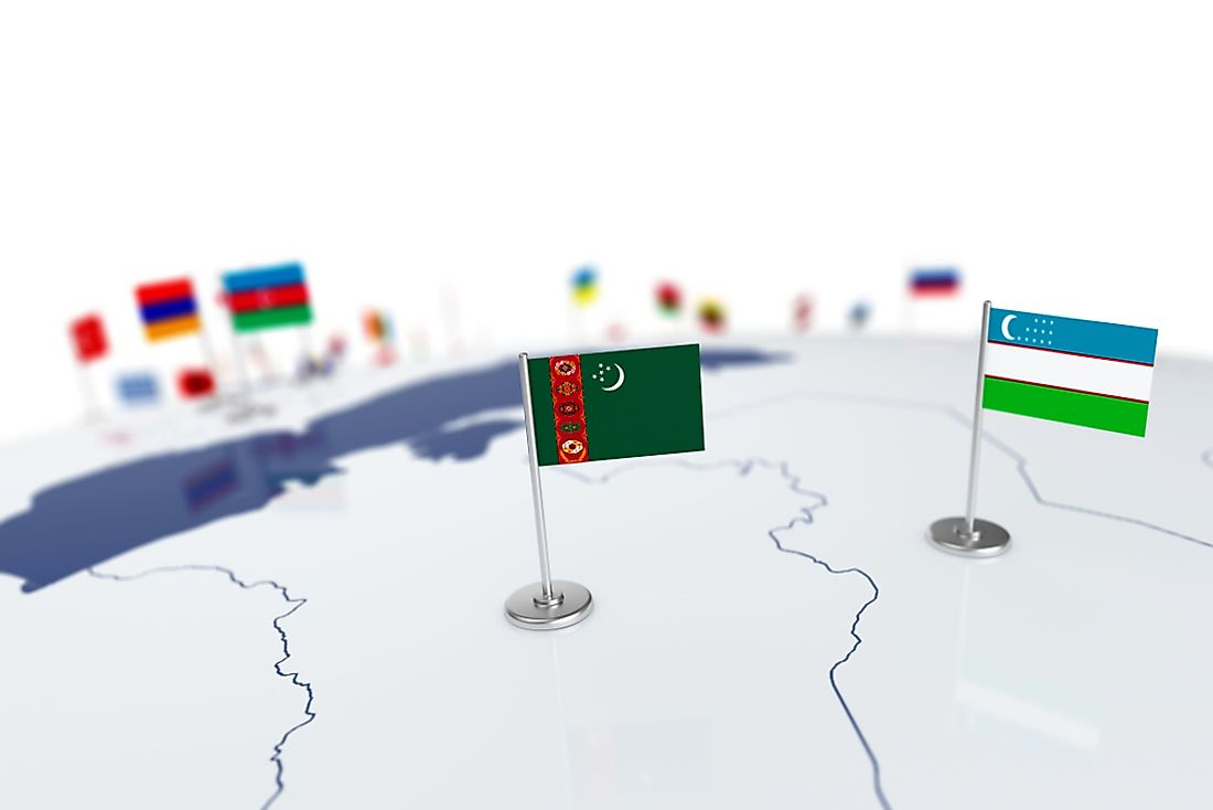 Turkmenistan shares a very lengthy border with its neighbor, Uzbekistan.