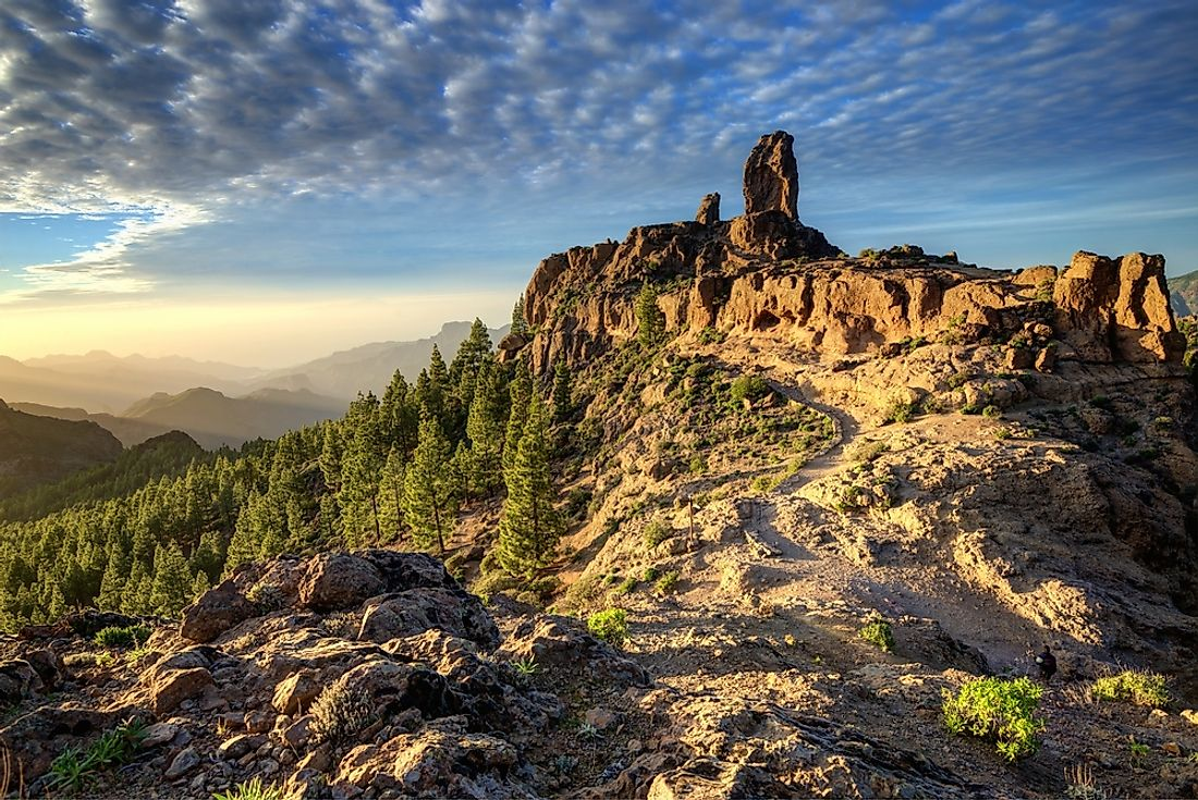 Gran Canaria of the Canary Islands is known for its rich variety of microclimates.