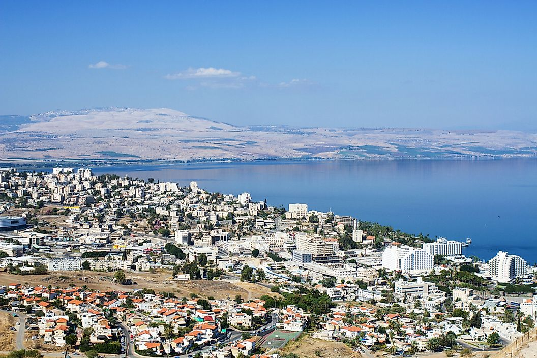The city of Tiberias is located on the shores of the Sea of Galilee.