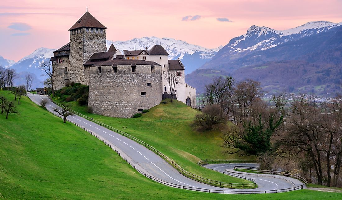 Vaduz Castle is the official residence of the Prince of Liechtenstein.