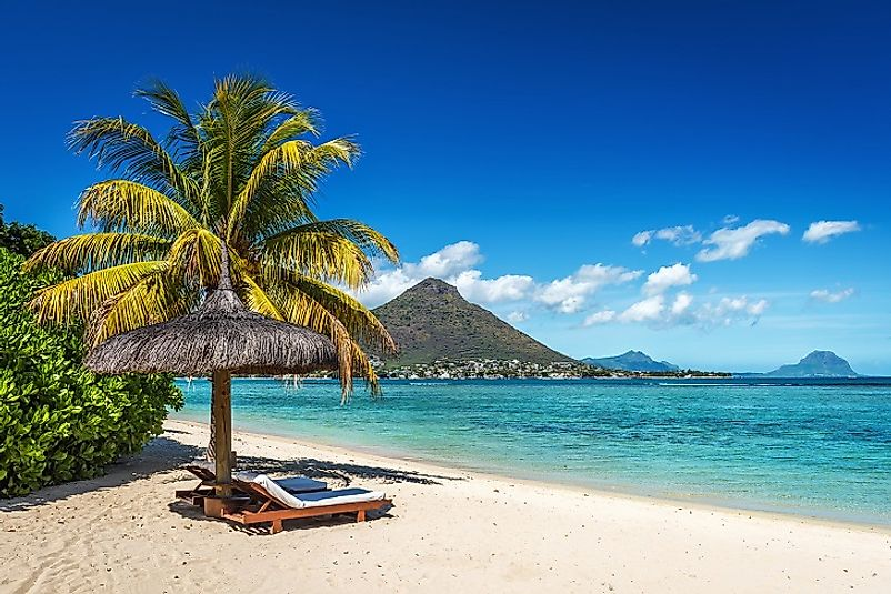 Beautiful beaches on the main island of Mauritius near the capital city of Port Louis.
