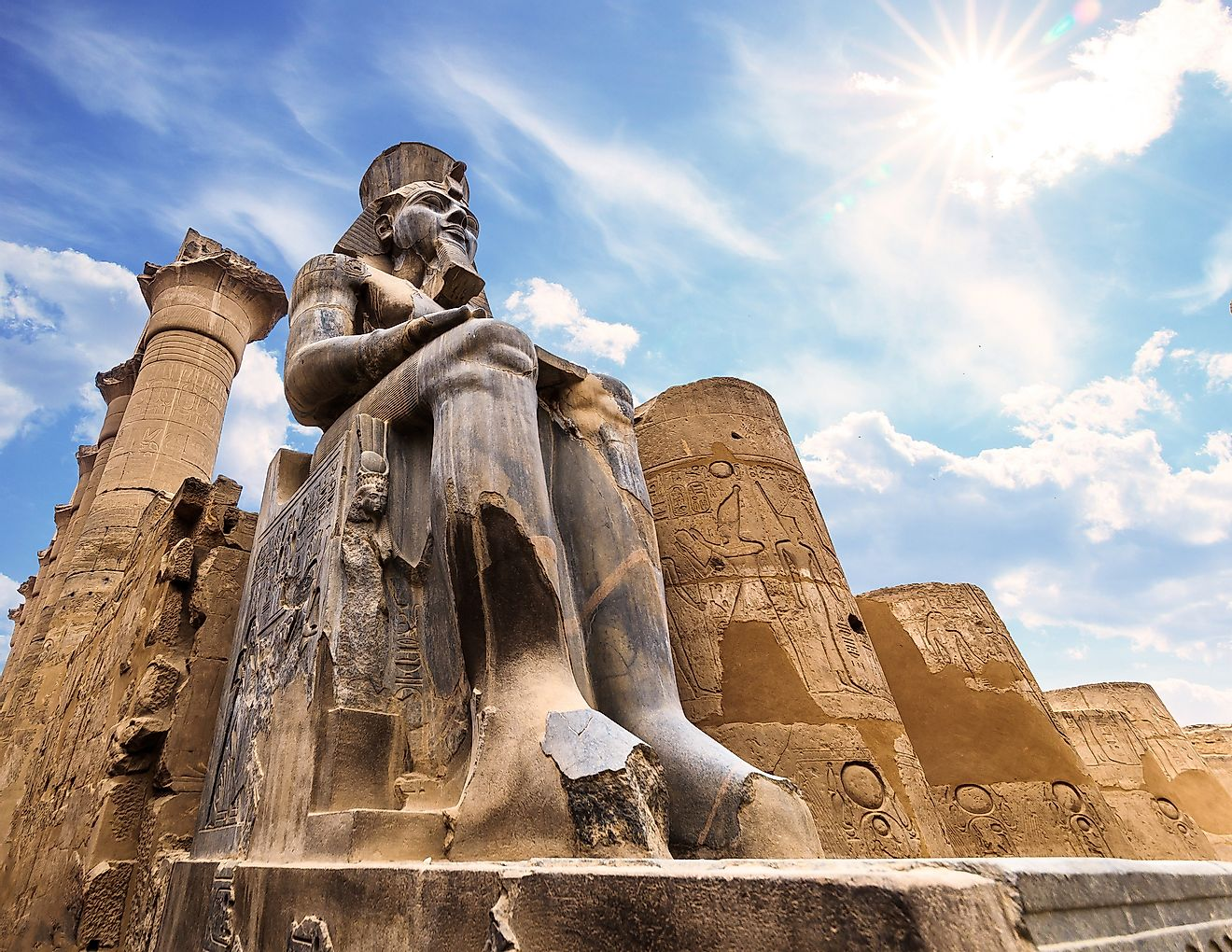 The huge statue of Ramesses II in Luxor Temple, Egypt. Image credit: Graficam Ahmed Saeed/Shutterstock.com