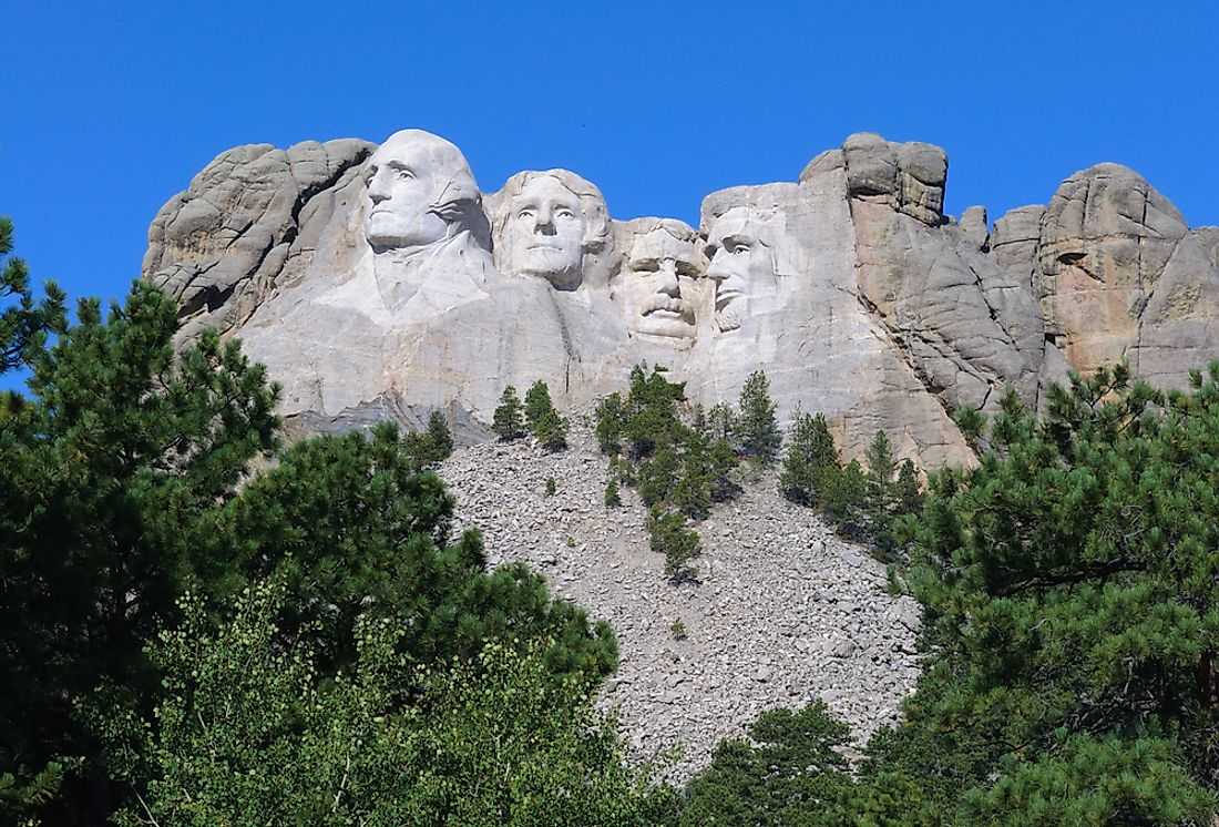Mount Rushmore in the Mount Rushmore National Memorial in South Dakota.